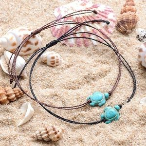 Turquoise Turtle Bohemian Anklet